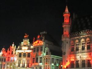 Grand Place in Brussels, right where we stayed