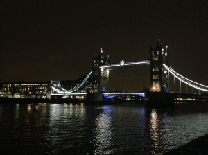 Tower Bridge (not to be confused with London Bridge, which is actually small and disappointing)